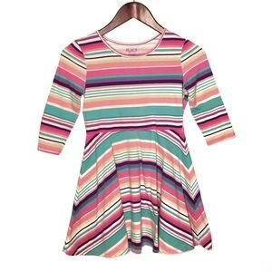 PLACE Multi Color Striped Dress